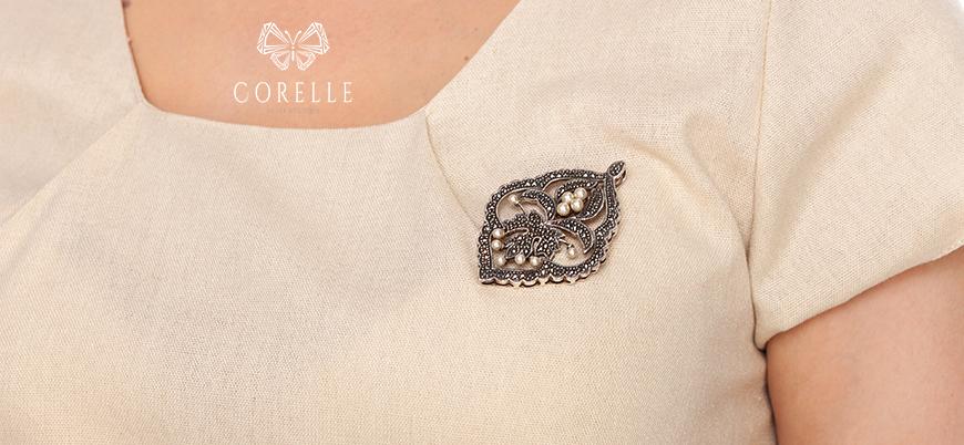 Brose argint cu pietre semipretioase- Corelle- Blog