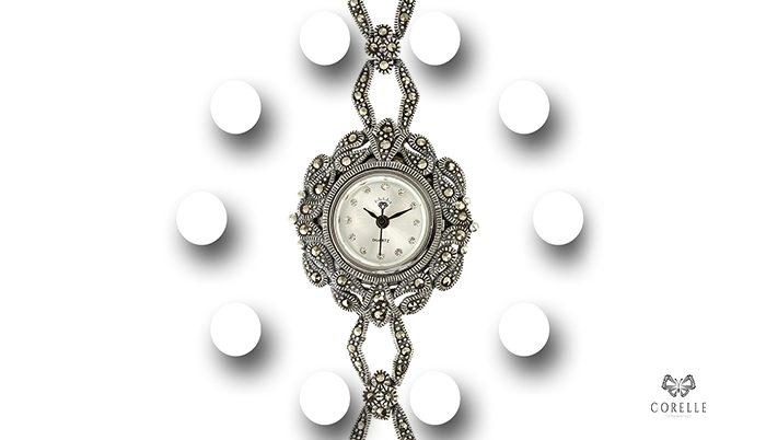Ceas argint cu marcasite- Corelle- Blog