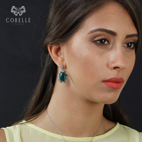 Cercei argint 925, Corelle, Cod TRSE041