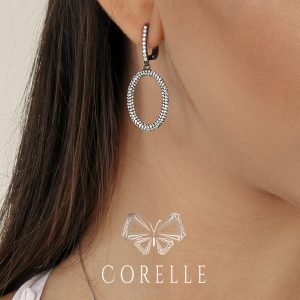 Cercei argint Latch Back Drop Earrings Zirconii Cod TRSE095