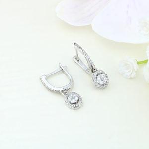 Cercei argint cu pietre - ICE0004