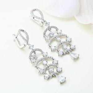 Cercei argint candelabru cu pietre - ICE0005