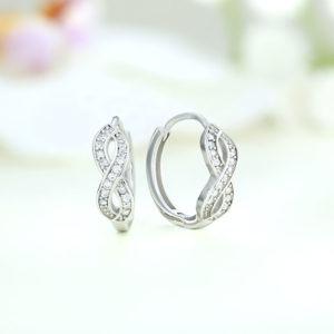 Cercei argint infinit cu pietre - ICE0012