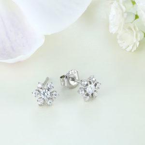 Cercei argint mici cu pietre - ICE0026