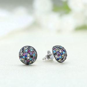 Cercei argint cu pietre Multicolor - ICE0055