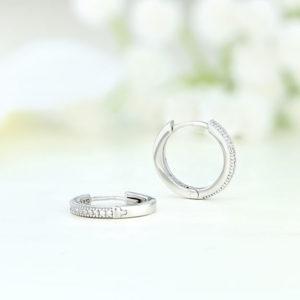 Cercei argint rotunzi cu pietre - ICE0060