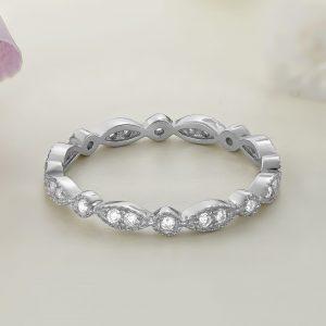 Inel argint Subtire Eternity cu pietre Fancy - ICR0004