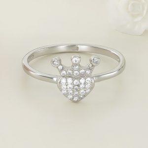 Inel argint cu pietre Inima Regala - ICR0013