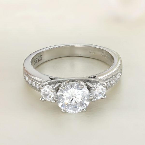 Inel logodna argint cu pietre - ICR0026