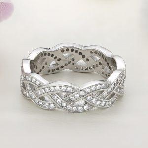 Inel argint Lat Eternity cu pietre - ICR0055