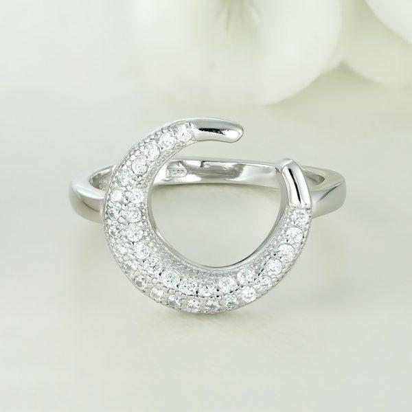 Inel argint cu pietre - Coarne - ICR0090