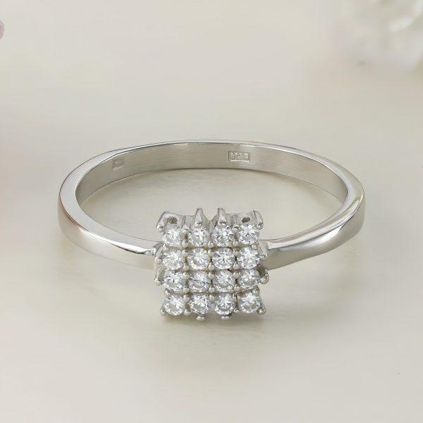 Inel argint cu pietre - Square - ICR0123