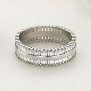 Inel argint Eternity cu pietre - ICR0134