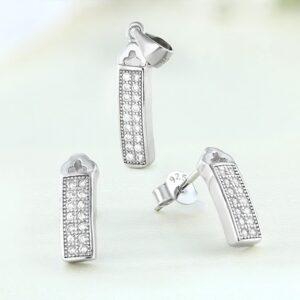 Set bijuterii argint cu pietre Jay - ICS0009
