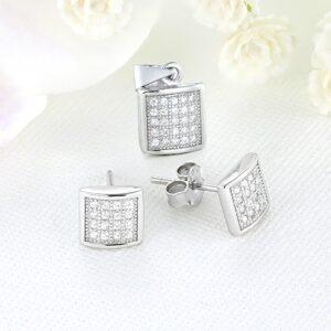 Set bijuterii argint cu pietre Isa - ICS0012