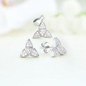Set bijuterii argint cu pietre Milla - ICS0013