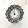 Inel ceas din argint cu pietre marcasite icw0002