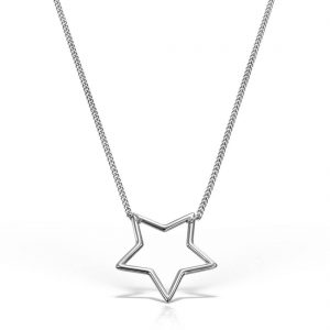Colier argint fara pietre 43 cm - Stea - MCN0002