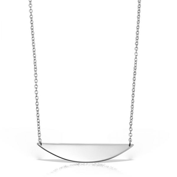 Colier argint fara pietre 47 cm Geometric - MCN0003