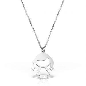 Colier argint fara pietre 42 cm Fetita - MCN0048