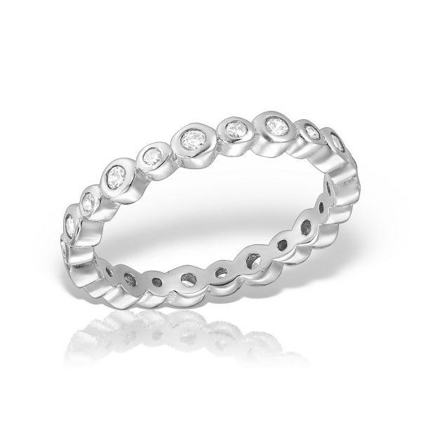 Inel argint cu pietre Eternity - MCR0014
