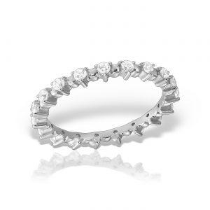 Inel argint cu pietre Eternity - MCR0015