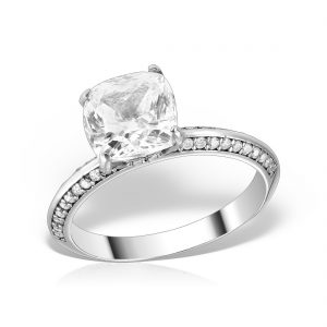Inel logodna argint cu pietre - MCR0020