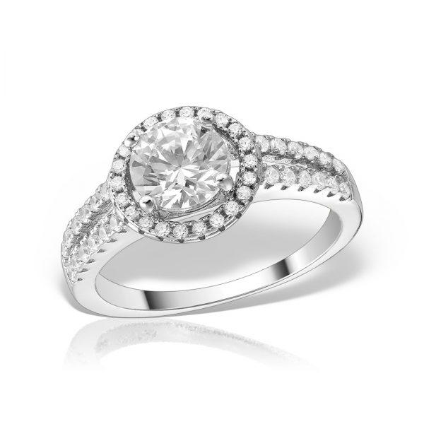 Inel logodna argint cu pietre - MCR0021
