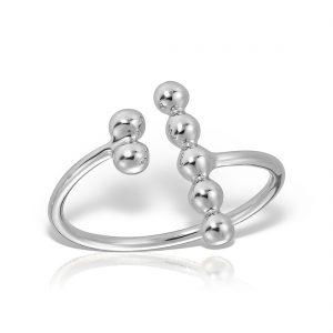 Inel argint reglabil fara pietre Bile - MCR0036