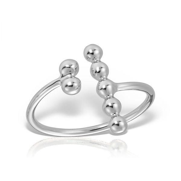 Inel argint reglabil fara pietre Bile - MCR0037