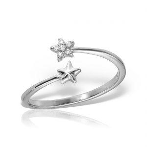 Inel argint reglabil cu pietre Stelute - MCR0067