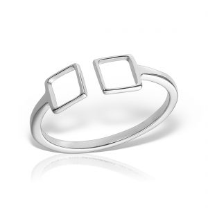Inel argint reglabil Patrate - MCR0080
