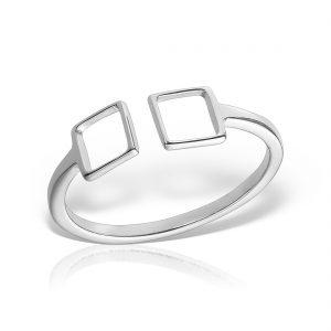Inel argint reglabil Patrate - MCR0081