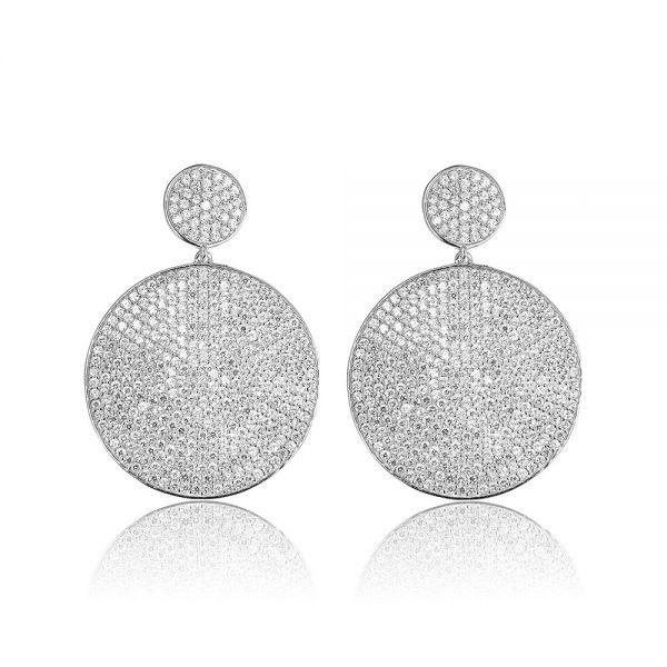 Cercei argint Surub Drop Earrings Zirconii TRSE093, Bijuterii - Corelle