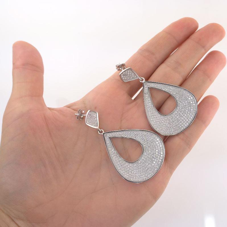 Cercei lungi din argint 925 . Cod TRSE107