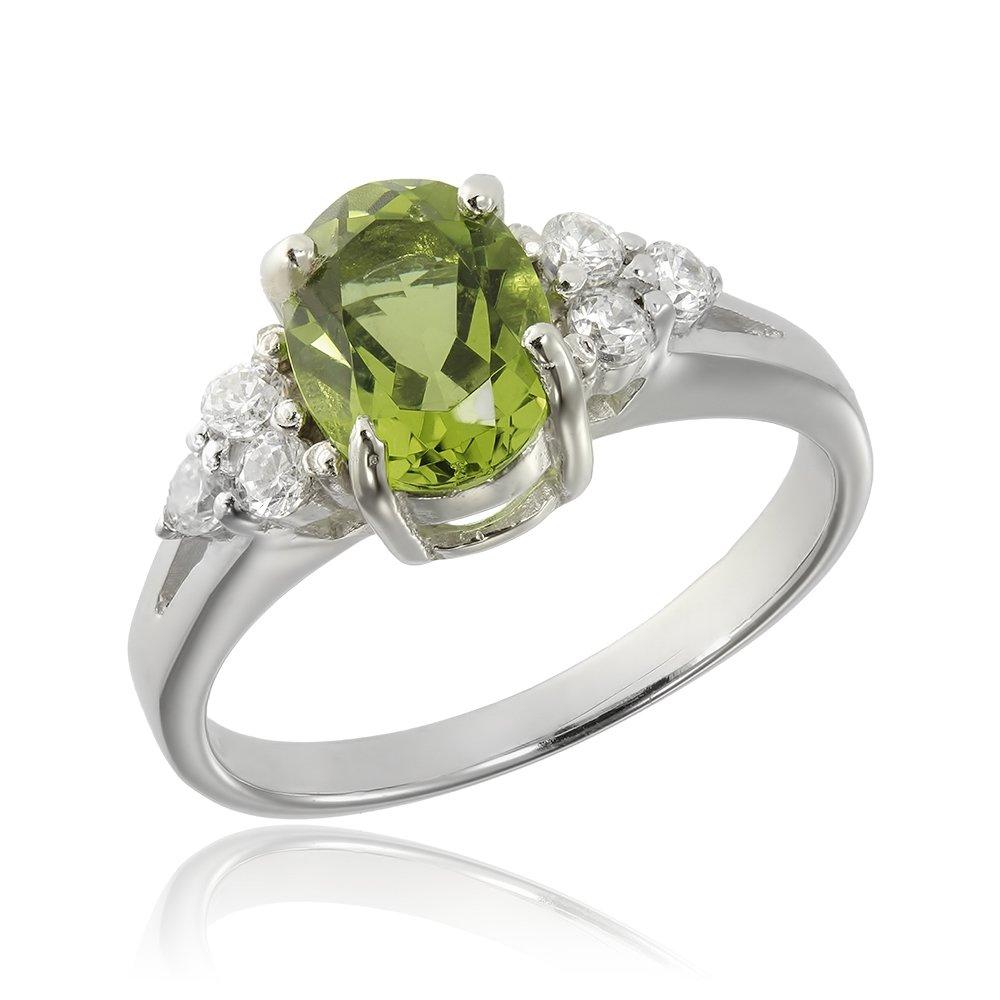 Inele de logodna. Inel argint Solitar Fancy cu cristale laterale/sant TRSR058, Corelle