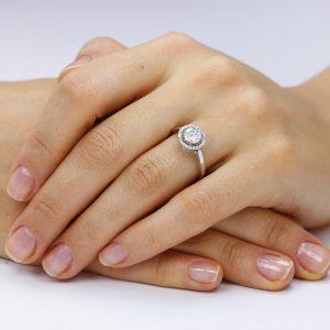 Inel de logodna argint Cocktail Marquise cu cristale TRSR116, Corelle