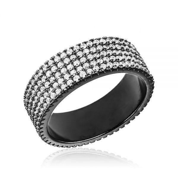Inel argint Eternity Band cu cristale TRSR132, Bijuterii - Corelle