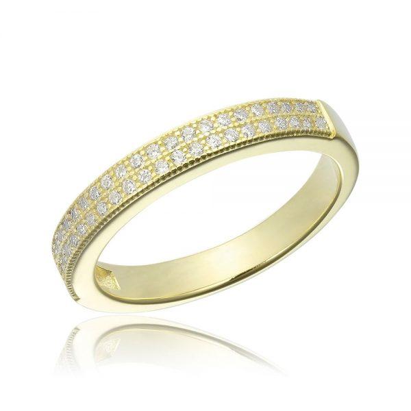 Inel argint Semi Eternity cu cristale TRSR136, Bijuterii - Corelle