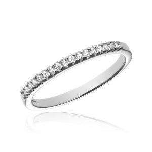 Inel argint Semi Eternity cu cristale TRSR137, Bijuterii - Corelle