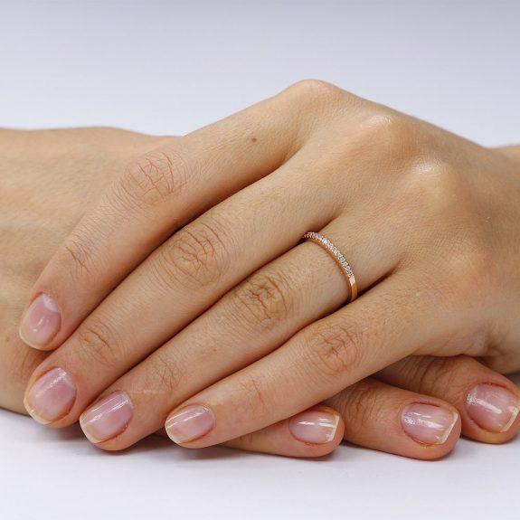 Inel argint Semi Eternity cu cristale TRSR139, Bijuterii - Corelle