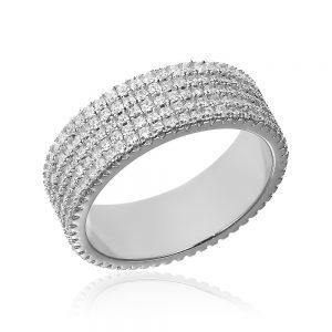 Inel argint Eternity Band cu cristale TRSR140, Bijuterii - Corelle