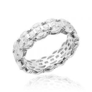Inel argint Marquise&Princess Fancy Eternity cu cristale TRSR147, Corelle