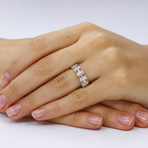 inel argint 925 semi eternity placat cu aur galben. Corelle. Trsr150