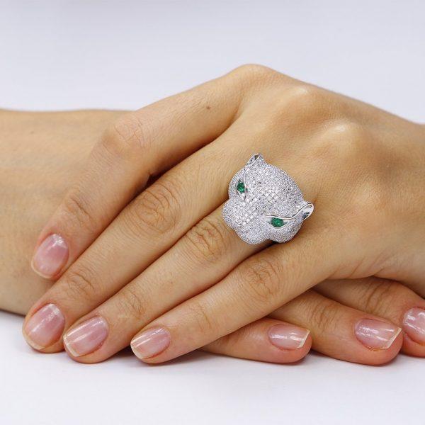 Inel argint Fancy Wild cu cristale mici din zirconii TRSR195, Bijuterii - Corelle