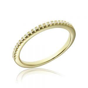Inel argint Semi Eternity cu cristale TRSR225, Bijuterii - Corelle