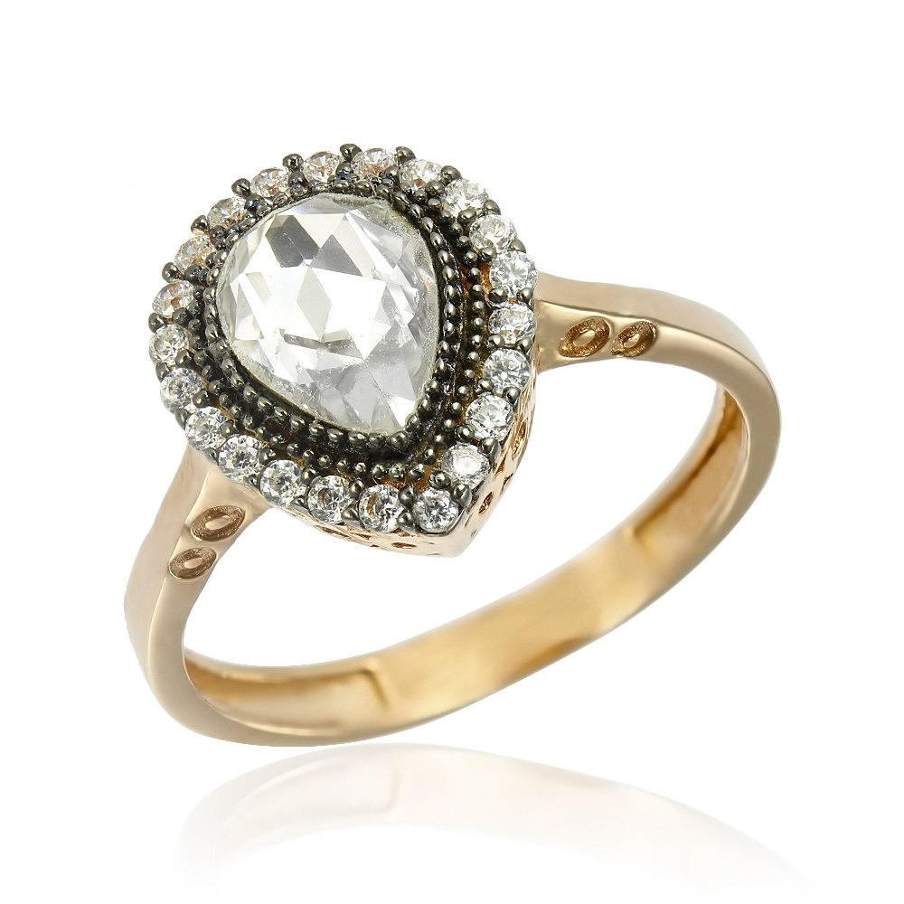 Inel cu piatra, de logodna argint Solitar cu cristale model Anturaj TRSR245, Corelle