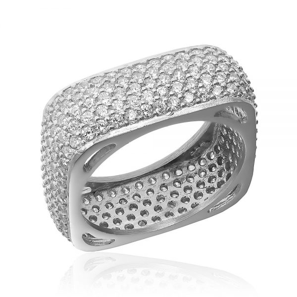 Inel argint White Eternity Fancy Square cu cristale TRSR248, Corelle