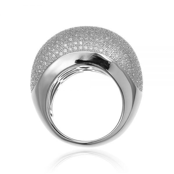 Inel argint Fancy Impressive White cu cristale zirconii TRSR249, Corelle