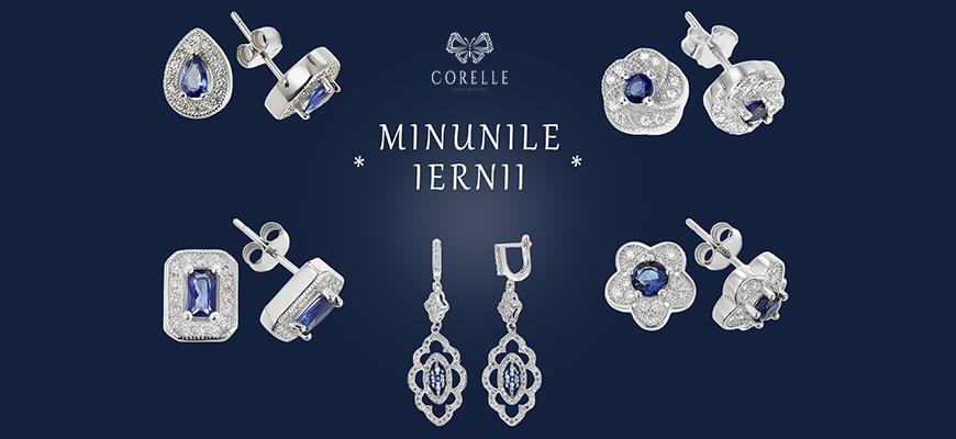 Bijuterii din argint cu cristale si zirconii inspirate din lumea zapezii- Corelle
